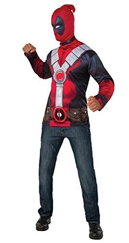 Costume 2016 Deadpool (Rubie's Costume Co. Men's Deadpool Costume Top, Red,)