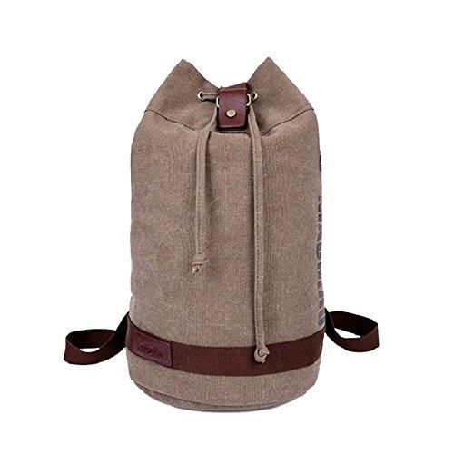 Oath _ song respetuosa con el medio ambiente algodón Lienzo Bucket Mochila cordón escuela libro bolsa marrón