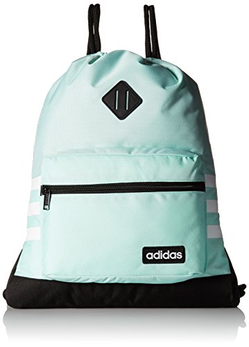 adidas Unisex Classic 3S Sackpack, Clear Mint Green/Black/White, ONE ()