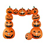 Bigjoys 8 Ft Halloween Inflatable Pumpkin Arch Archway Gate Decoration for Indoor Outdoor Home Yard Party