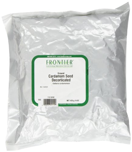 Frontier Ground Cardamom Seed, Decorticated , 16 Ounce Bag