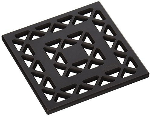 E4802-ORB Lattice Decoratve Drain Grate, Oil Rubbed Bronze by Ebbe