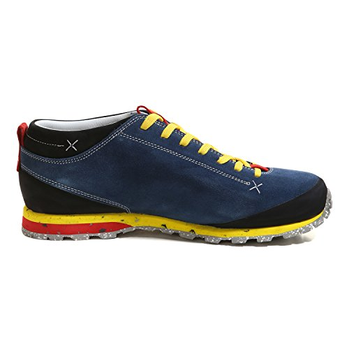 Aku Unisexe Adulte Bella Mont Suède Gtx Chaussures De Fitness En Plein Air Bleu / Jaune / Rouge