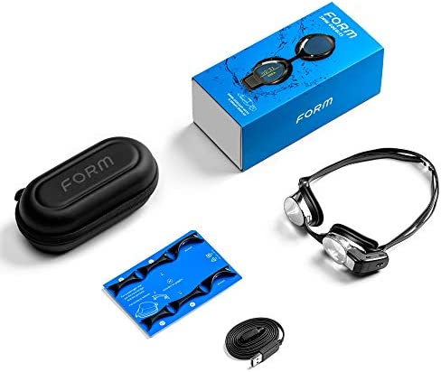 FORM Smart Swim Goggles, Fitness Tracker for Pool and Open Water with a See-Through Display that Shows your Metrics whilst Swimming