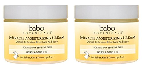 Miracle Moisturizing Moisturizer - Babo Naturals Miracle Moisturizing Face Cream (Pack of 2) With Aloe Leaf, Coconut Oil, Shea Butter, Cocoa Seed, Oat, Calendula, Chamomile, Kudzu, Bergamot, Cedarwood, Vanilla and Orange, 2 oz.