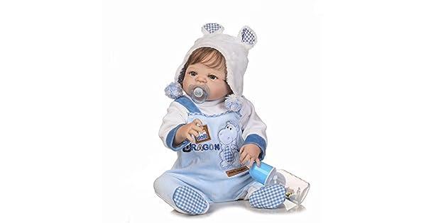 Amazon.com: Realista realista Baby Boy bebé Juguete 23 inch ...