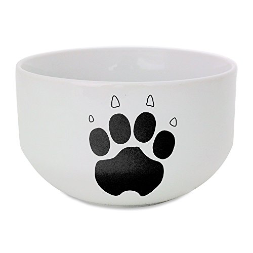 Paw Print ceramic bowl (Paw Prints Ceramic Bowl)