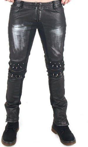Punk Rave crazyinlove pantalones de piel sintética mujer Negro ...