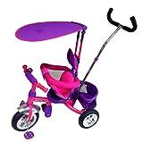 Triciclo para Bebe con Toldo Recto (Rosa/Morado)