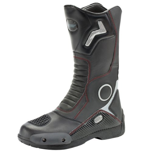 Joe Rocket 1377-0012 Ballistic Touring Men's Boots (Black, Size 12) (Motorcycle Helmet And Boots)