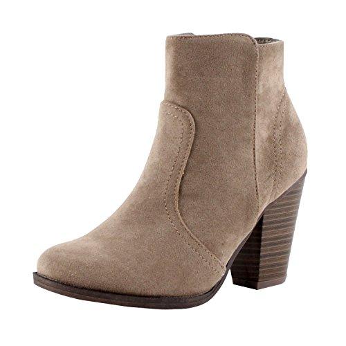 Breckelle's Women's Dorado-11 Western Ankle Boot Beige 7.5