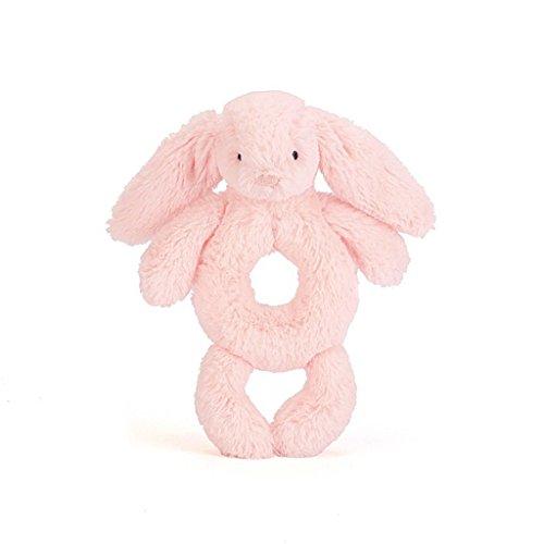 (Jellycat Bashful Pink Bunny Plush Baby Ring Rattle )