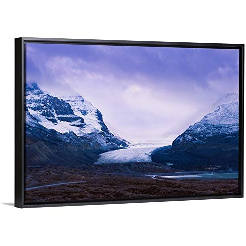 - Athabasca Glacier, Columbia Icefields, Alberta, Canada Black Floating Frame Canvas Art, 26