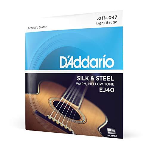 DAddario EJ40, cuerdas de seda y acero guitarra folclórica