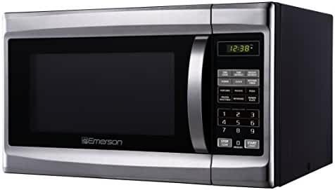 Emerson MW1338SB, 1.3 CU. FT. 1000 Watt, Touch Control, Stainless Steel Front, Black Cabinent Microwave Oven