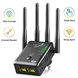 VICTONY WiFi Range Extender 1200Mbps Dual Band WiFi Repeater with 4 Antennas