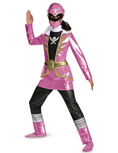 Disguise Saban Super MegaForce Power Rangers Pink Ranger Deluxe Girls Costume, Small/4-6x ()