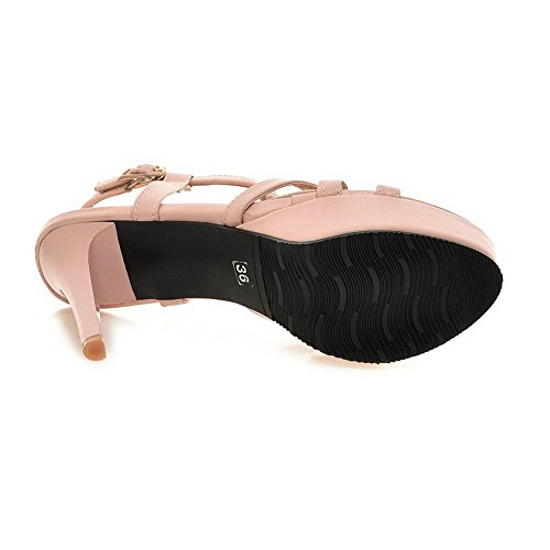 En Dames Talons Ouvert Pink 1to9 Solides À Bout Sandales Polyuréthane Hauts nRRXZxqPr