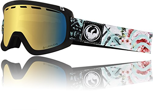 Dragon Alliance D1 Women Flaunt Snow Goggles for Women, Gold Ion (Dragon D1 Lenses)