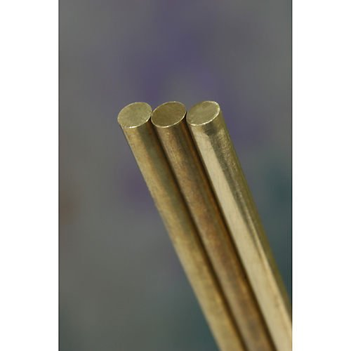 K&S Precision Metals 1163 Round Solid Brass Rod, 5/32