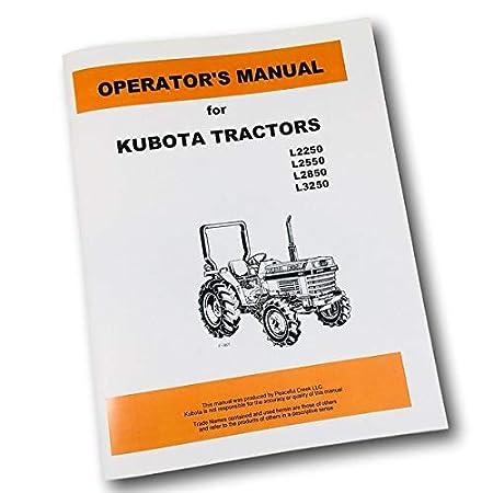 Amazon.com: Kubota L2250 L2550 L2850 L3250 - Libreta impresa ...