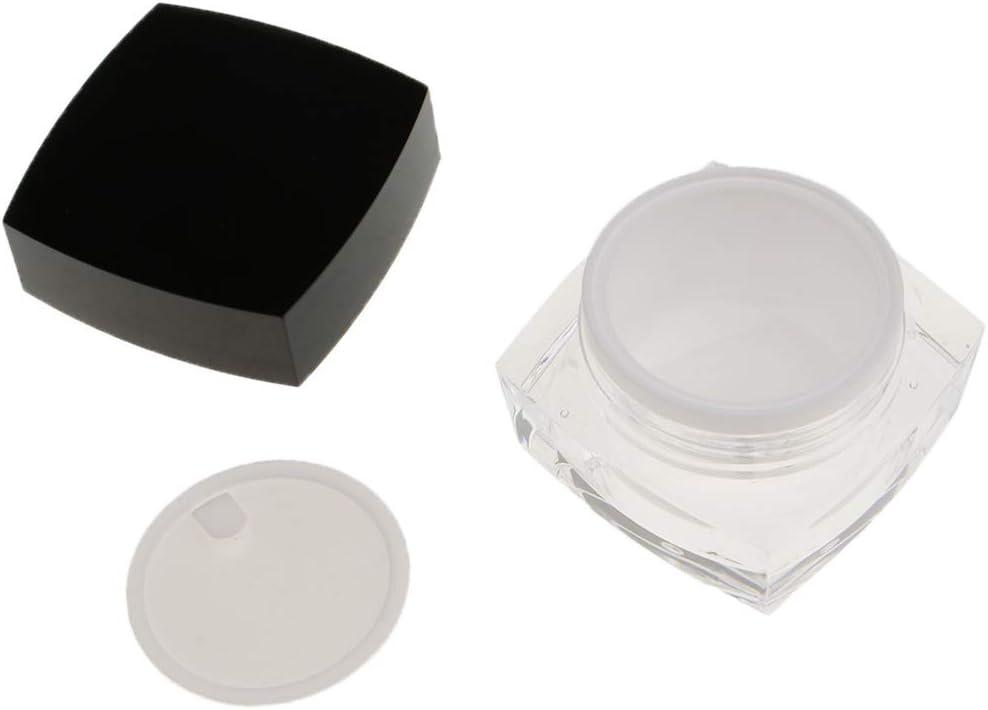Envase Cosméticos Recipientes en Crema Estuche Vacío Tarro de Acrílico de Almacenaje - 30g: Amazon.es: Belleza