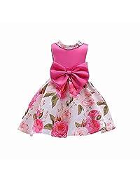 ADHS Girls Dress Kids Flower Party Wedding Holiday Princess Dresses 2-10 Years