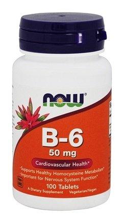 Nutrition Now B6 Vitamins (B-6 50mg 100 Tablets)