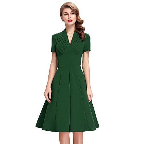 good V-Neck Wiggle Dresses for Women Short Sleeve BP70