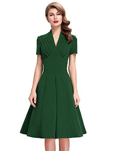 V Neck Wiggle Dresses Women Sleeve
