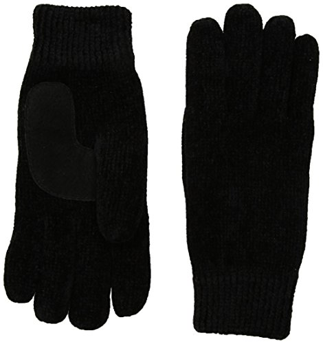 Isotoner Women's Chenille Knit Gloves, black, One Size
