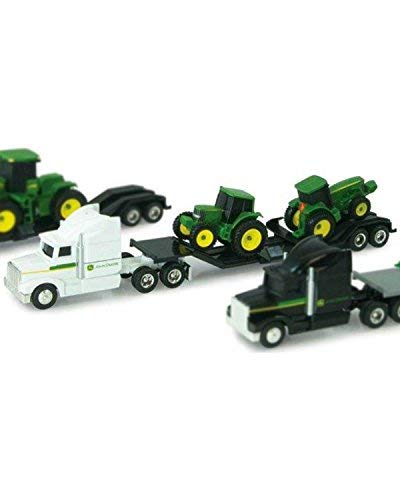 John Deere Yellow Semi Hauler with Removable Trailer and Tractor