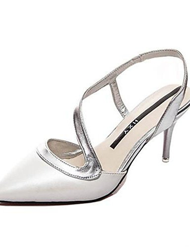 GGX/ Damenschuhe-High Heels-Kleid / Party & Festivität-Kunstleder-Stöckelabsatz-Absätze-Rosa / Weiß white-us8 / eu39 / uk6 / cn39