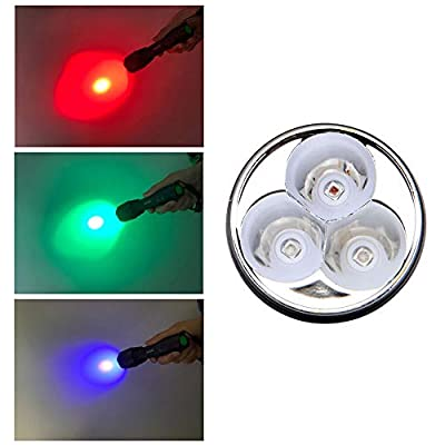 VASTFIRE Whitetails Mule Deer Blood Tracking Light Green/Red/Blue Cree Led Flashlight with 2 Pack 18650 Batteries for Bow Hog Coyotes Predator Varmints Deer Night Hunting