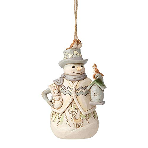Snowman Ornament Collection - Enesco Jim Shore Heartwood Creek White Woodland Snowman Ornament