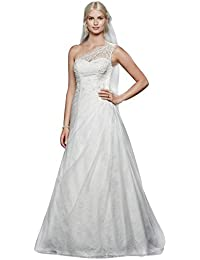 Amazon.com: One Shoulder - Wedding Dresses / Wedding Party: Clothing ...