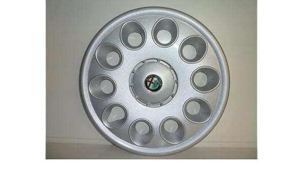 Juego de Tapacubos 4 Tapacubos Diseño de Alfa Romeo 147 r 15: Amazon.es: Coche y moto