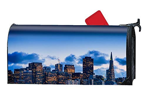 Tollyee Magnetic Large Mailbox Cover San Francisco Mail Box Covers, Magnetic Mailbox Cover 9