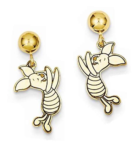 - Roy Rose Jewelry Roy Rose Jewelry Gold-plated Sterling Silver Disney Piglet Dangle Post Earrings
