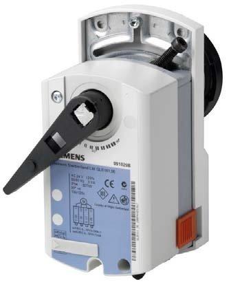 Siemens GDB161.9E - Accionador giratorio para válvulas de bola