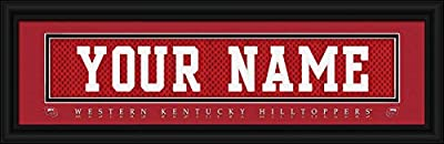 Western Kentucky Hilltoppers - Personalized Jersey Nameplate - Framed Poster Print