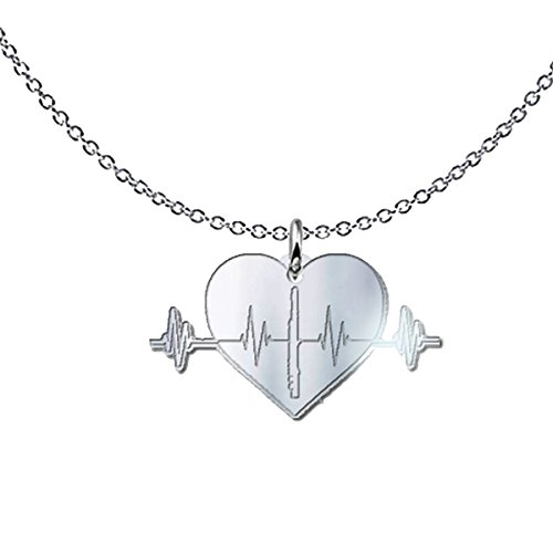 Flute Heartbeat Freeform Pendant Necklace - Flutist Gift Piccolo Alto Bass - .925 Solid Sterling Silver