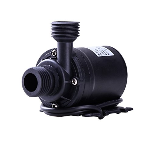 UEETEK DC 12V Brushless Submersible Water Pump 800L/H 5M for Fountain Pool Solar Circulation System Water Circulation System