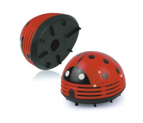 niceeshop(TM) Mini Table Dust Vaccum Cleaner Red Beetles Prints Design