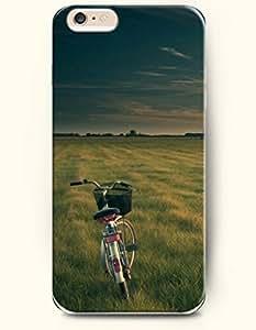 SevenArc New Apple iPhone 6 ( 4.7 Inches) Hard Case Cover - Bike in Grassland