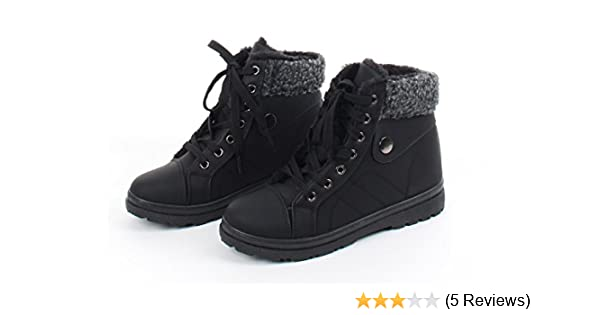 Lace-up Chic Combat Boots Style, Gilbins Womens Fur Lined Ankle High Shoe Boots