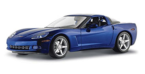 Maisto Chevy Corvette Coupe, Metallic Blue 31117 - 1/18 Scale Diecast Model Toy Car ()