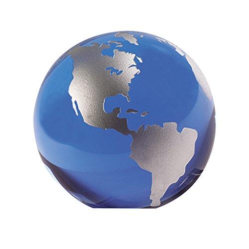 Badash Crystal Globe Paperweight, 3-Inch, Blue