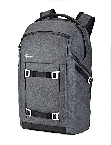 Lowepro Freeline Camera Backpack 350 AW, Heather Grey, Versatile Daypack Designed for Travel, Photographers and Videographers, for DSLR, Mirrorless, Laptops, Bridge, CSC, Lenses and Travel Gear (Lowepro Dslr Video)
