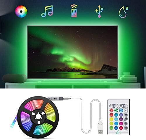 Tiras LED TV 2.2M, TASMOR Tira LED USB RGB 5050 Sincronización de ...